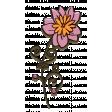 Purple And Orange Chipboard Flower 02