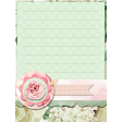 Pink Rose on Green Journal Card