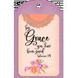 Purple & Orange Grace Tag