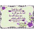 Purple Green Frame Proverbs 3:6