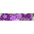 Purple Green Floral Washi Tape 02