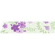 Purple Green Floral Washi Tape 03
