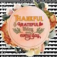 Thankful Word Art Wreath