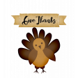 Give Thanks Turkey Word Art