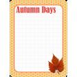 Autumn Journal Card 08