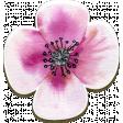 Chipboard Purple Flower