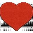 Winter Snow Mini Kit: Stitched Felt Heart