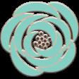 Lilac Aqua Element 01 Chipboard Flower