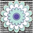 Lilac Aqua Element 16 Chipboard Flower