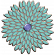 Lilac Aqua Element 03 Chipboard Flower