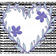 Lilac Aqua Element 19 Heart