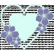 Lilac Aqua Element 21 Heart Enamel