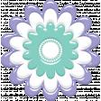 Lilac Aqua Element Flower 22