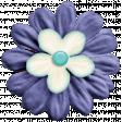 Lilac Aqua Element 24 Fabric Flower
