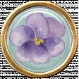 Lilac Aqua Element 31 Flower Brad