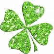 Saint Patrick Glitter Shamrock 03