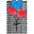 Valentine Mini Doodle Glitter Heart Balloons