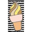 Delish Mini Kit Chipboard Swirled Ice Cream Cone