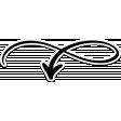 Retro Camper Add-On: Swirl Arrow Sticker