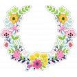 Retro Camper Add-On: Floral Wreath Sticker