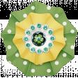 Retro Camper Add-On: Accordian Polka Dot Flower