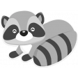 Retro Camper Kit Add-On: Racoon Sticker