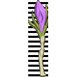 April Add-On: Purple Crocus Chipboard Flower