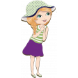 April Add-On: Cute Girl Chipboard