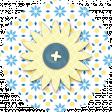 Blue Button Paper Flower Embellishment