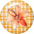 Orange Watercolor Flower Brad