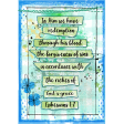 Ephesians 1:7 Watercolor Journal Card