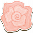 Coral Chipboard Rose