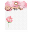 Watercolor Decorated Tag