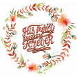 His Mercy Endures Forever Watercolor Floral Wreath Chipboard