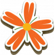 Orange Chipboard Flower