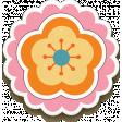 Pink & Orange Layered Chipboard Flower