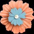 Around the World Fabric Flower 1