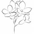 Around the World: Flower line drawing