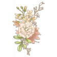 Floral Bouquet Chipboard 2