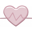 Heart Rate Heart Sticker