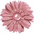 Pink Glitter Flower with Brad Center