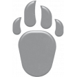 Kumbaya Mini Kit Grey Paw Print Sticker 1