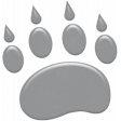 Kumbaya Mini Kit Grey Paw Print Sticker 2