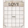 Vintage Aged Love Bingo Card