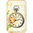 Vintage Inked Card w Heirloom Clock