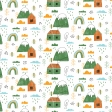 Kumbaya Mini Kit Mountainside House Patterned Paper