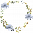 Patio Garden Element 11 Watercolor Wreath