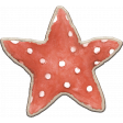 Christmas Mini Kit Element  07 Star Chipboard Cookie