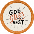 Autumn Mini Kit God Gives You Rest Word Art