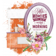 Cluster Frame 2 with Bible Verse: Mercies